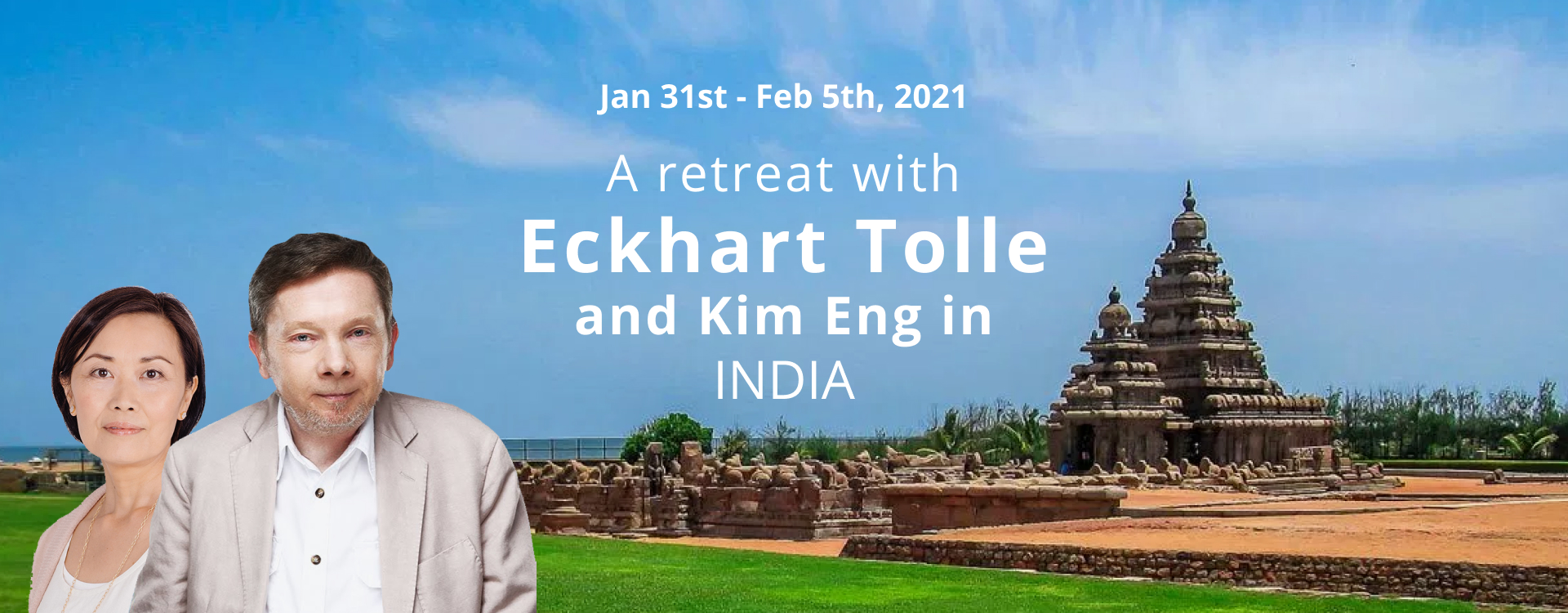 Tolle banner India retreat